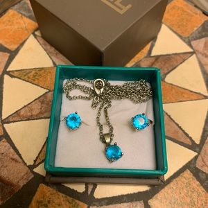 EFFY topaz necklace and earring set